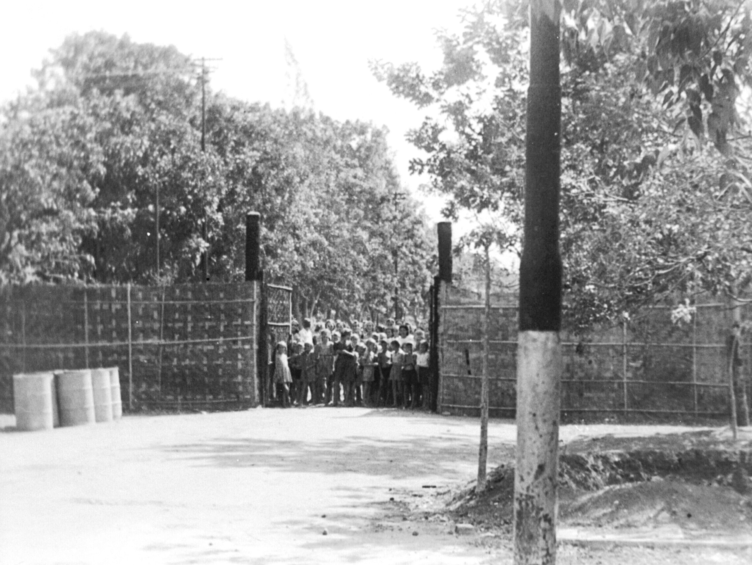 Tjideng Camp Gate, 1945