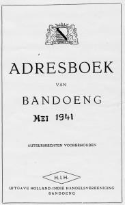 Adresboek van Bandoeng